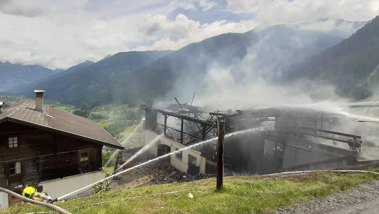 Brand Wirtschaftsgebäude