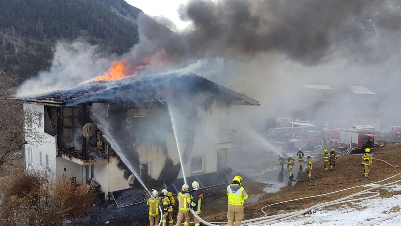 Brand Einfamilienhaus Huben